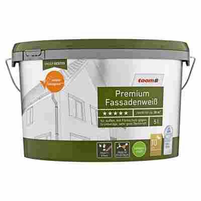 Premium Fassadenweiß seidenmatt 5 l