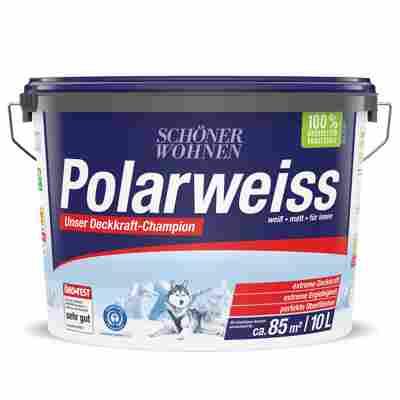 Innenraumfarbe 'Polarweiss' weiß 10 l