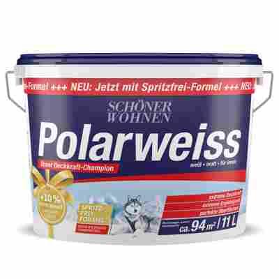 Wandfarbe Polarweiss 11 l weiß