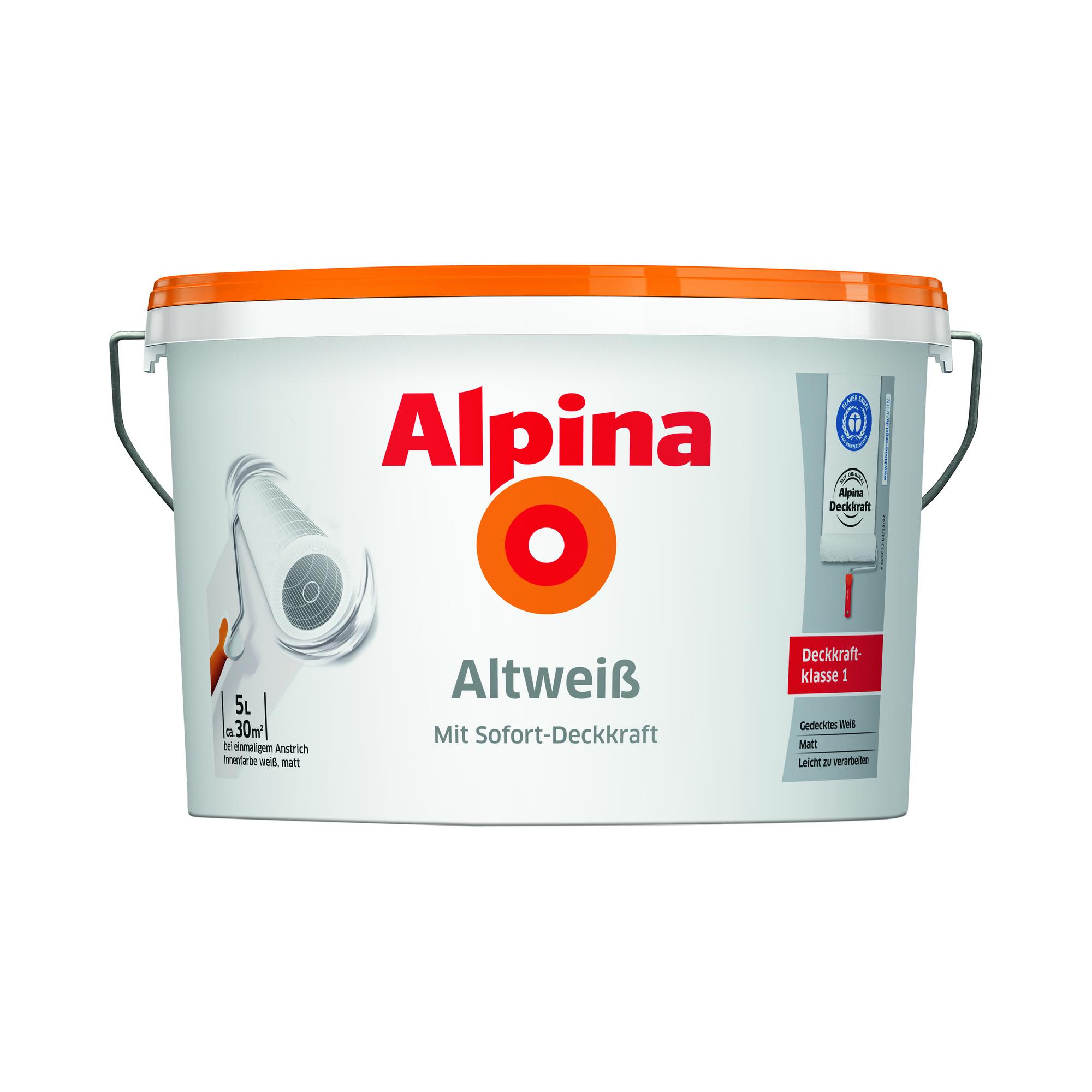Alpina Bad Küchenfarbe: Alpina Altweiß