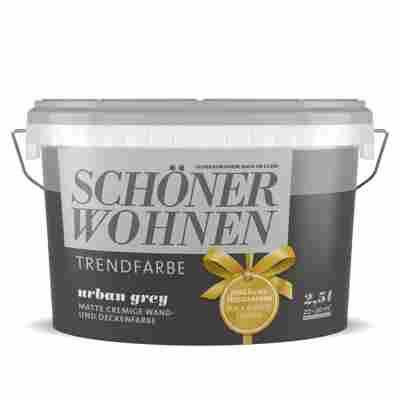 Wand- und Deckenfarbe Trendfarbe 'Urban Grey' matt 2,5 l