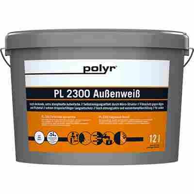 Fassadenfarbe 'Pro PL 2300' weiß 12 l