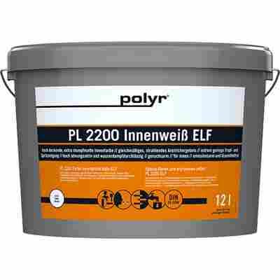 Wandfarbe 'ELF PL 2200' weiß 12 l