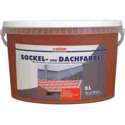 Sockel- & Dachfarbe ziegelrot 5 Liter