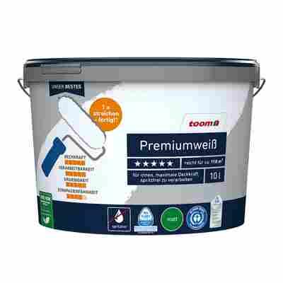 Premiumweiß, matt, 10 l, inkl. Abdeckfolie und Schnellfüllspachtel