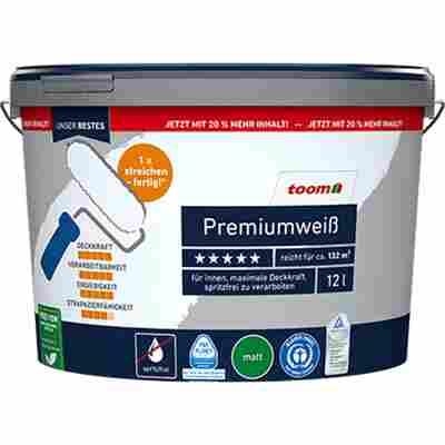 Premiumweiß konservierungsmittelfrei matt 12 l
