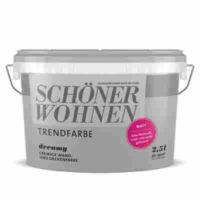 Wand- und Deckenfarbe 'Trendfarbe' Dreamy, matt, 2,5 l