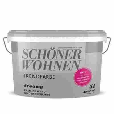 Wand- und Deckenfarbe 'Trendfarbe' Dreamy, matt, 5 l