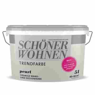 Wand- und Deckenfarbe 'Trendfarbe' Pearl, matt, 5 l