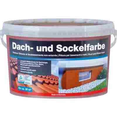Dach-und Sockelfarbe ziegelrot 5 l