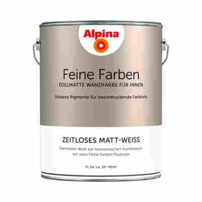 Wandfarbe 'Feine Farben' matt-weiß 5 l