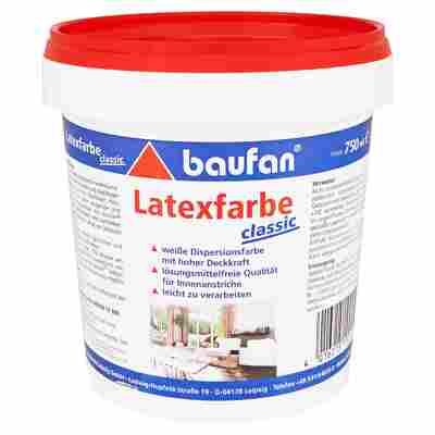 "Latexfarbe ""Classic"" weiß 0,75 l"