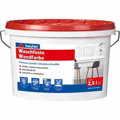 Wandfarbe waschfest weiß 2,5 l