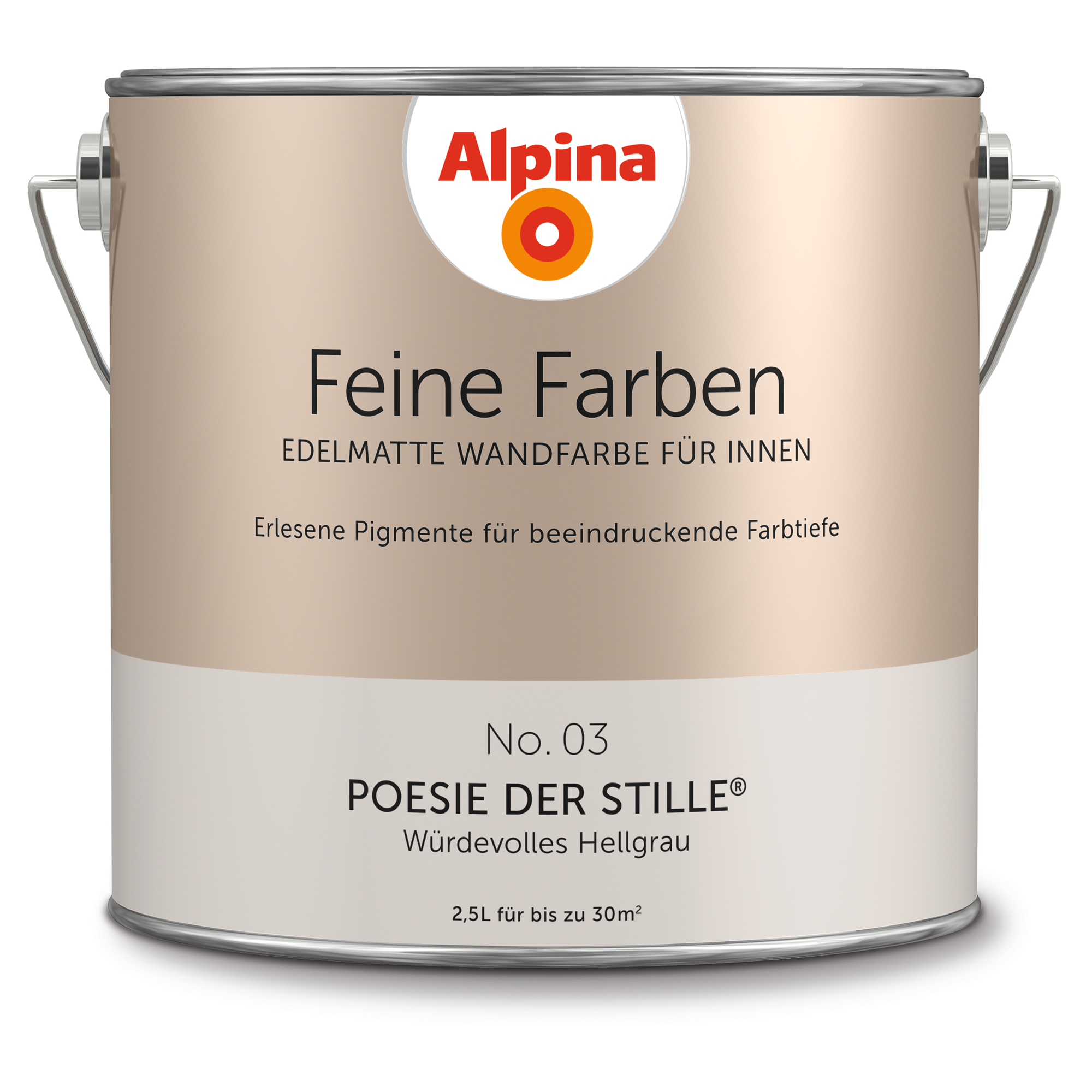 Alpina Wandfarbe U0027Feine Farbenu0027 No. 03 U0027Poesie Der Stilleu0027, Hellgrau, 2,5 L  ǀ Toom Baumarkt