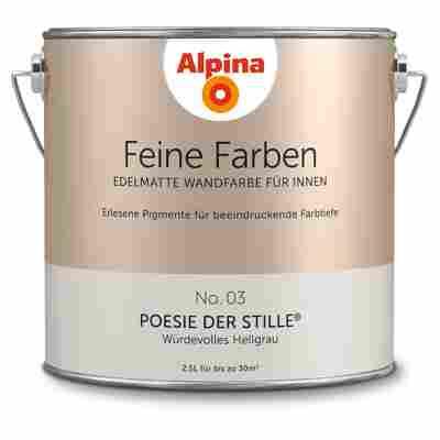Wandfarbe 'Feine Farben' No. 03 'Poesie der Stille', hellgrau, 2,5 l