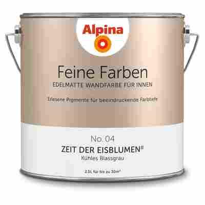 Wandfarbe 'Feine Farben' No. 04 'Zeit der Eisblumen', blassgrau, 2,5 l