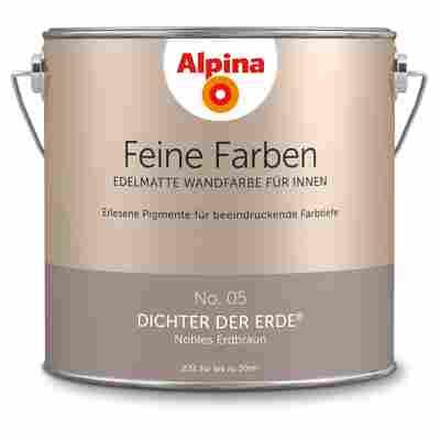 Wandfarbe 'Feine Farben' No. 05 'Dichter der Erde', erdbraun, 2,5 l