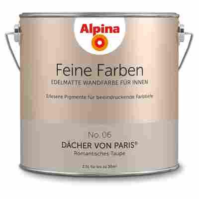 Wandfarbe 'Feine Farben' No. 06 'Dächer von Paris', taupe, 2,5 l