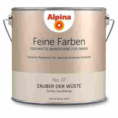 Wandfarbe 'Feine Farben' No. 07 'Zauber der Wüste', sandbeige, 2,5 l