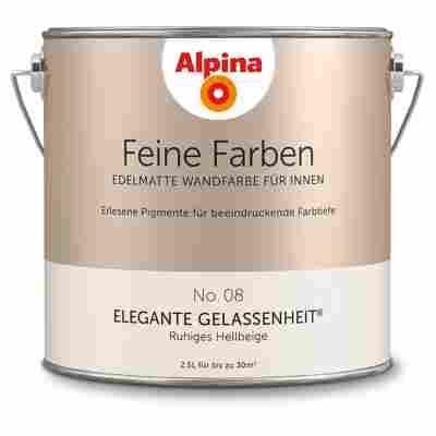 Wandfarbe 'Feine Farben' No. 08 'Elegante Gelassenheit', hellbeige, 2,5 l