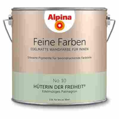 Wandfarbe 'Feine Farben' No. 10 'Hüterin der Freiheit', patinagrün, 2,5 l