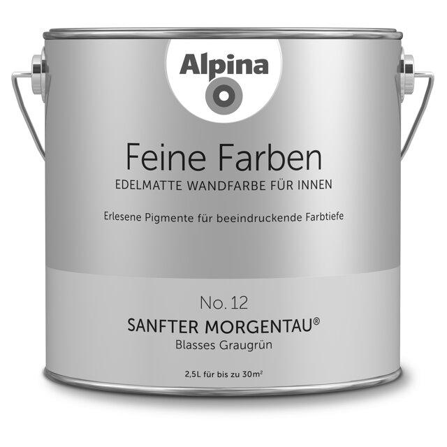 Alpina Wandfarbe Feine Farben No 12 Sanfter Morgentau Graugrün
