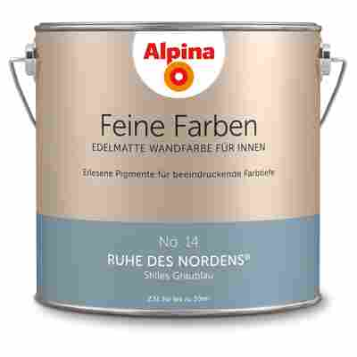 Wandfarbe 'Feine Farben' No. 14 'Ruhe des Nordens', graublau, 2,5 l