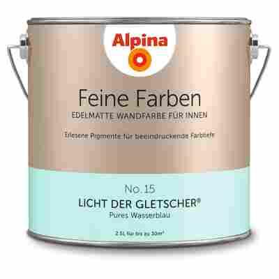 Wandfarbe 'Feine Farben' No. 15 'Licht der Gletscher', wasserblau, 2,5 l