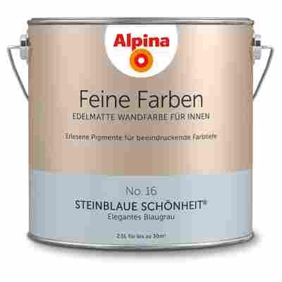 Wandfarbe 'Feine Farben' No. 16 'Steinblaue Schönheit', blaugrau, 2,5 l