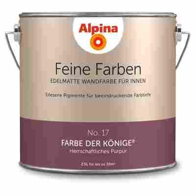 Wandfarbe 'Feine Farben' No. 17 'Farbe der Könige', purpur, 2,5 l