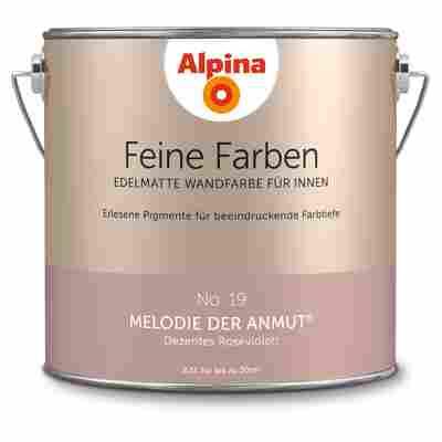 Wandfarbe 'Feine Farben' No. 19 'Melodie der Anmut', roséviolett, 2,5 l