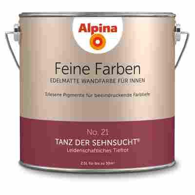 Wandfarbe 'Feine Farben' No. 21 'Tanz der Sehnsucht', tiefrot, 2,5 l