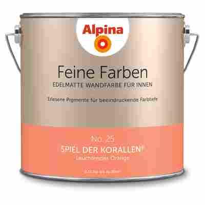 Wandfarbe 'Feine Farben' No. 25 'Spiel der Korallen', orange, 2,5 l