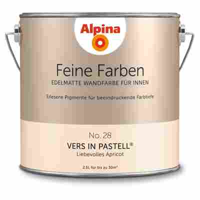Wandfarbe 'Feine Farben' No. 28 'Vers in Pastell', apricot, 2,5 l