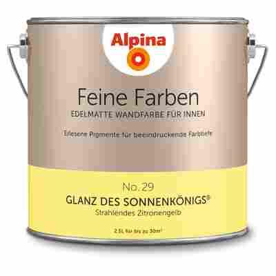 Wandfarbe 'Feine Farben' No. 29 'Glanz des Sonnenkönigs', zitronengelb, 2,5 l