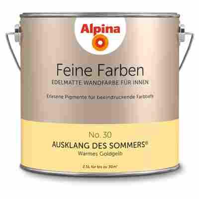 Wandfarbe 'Feine Farben' No. 30 'Ausklang des Sommers', goldgelb, 2,5 l