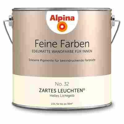 Wandfarbe 'Feine Farben' No. 32 'Zartes Leuchten', lichtgelb, 2,5 l