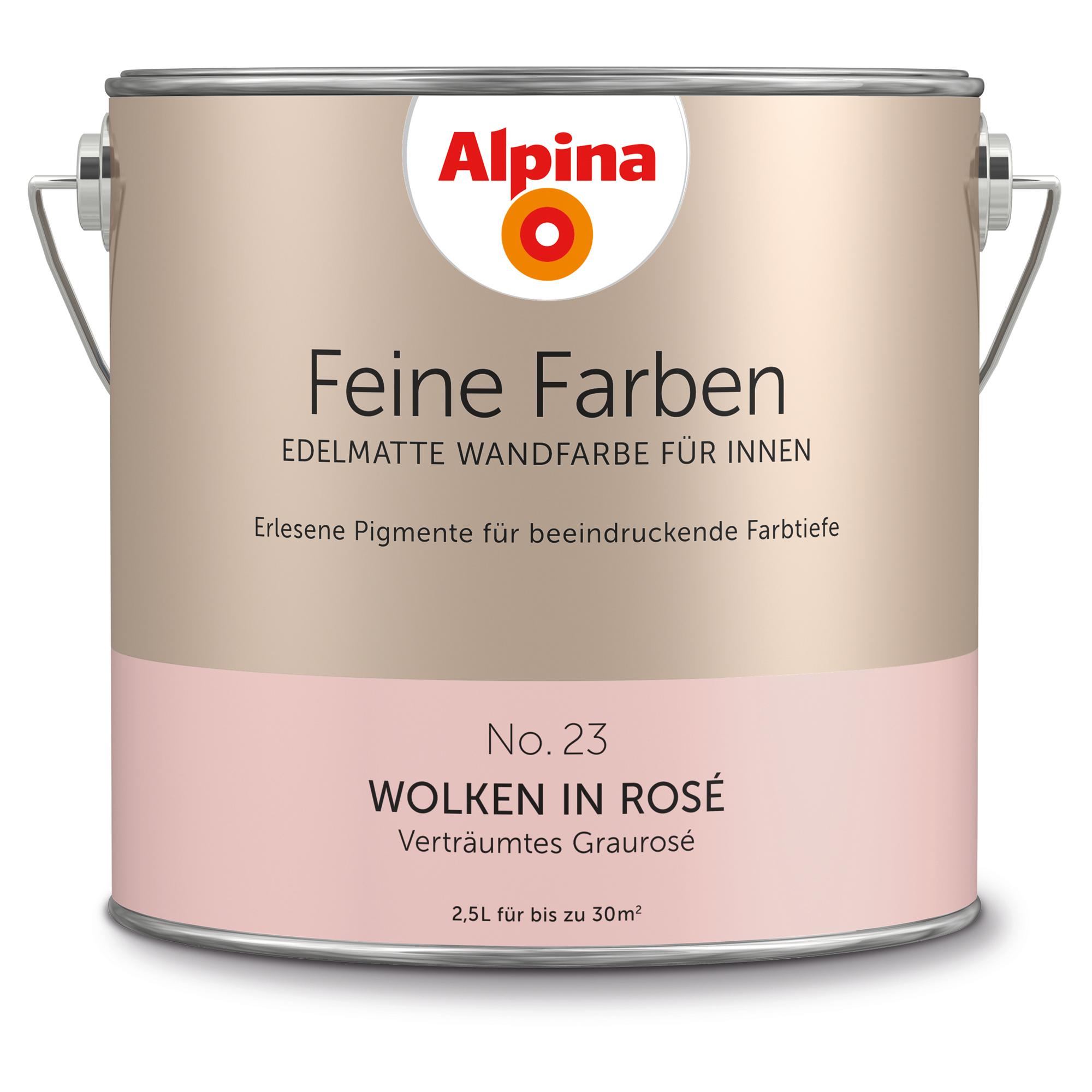 Alpina Wandfarbe Feine Farben No 23 Wolken In Rose Graurose 2 5 L ǀ Toom Baumarkt