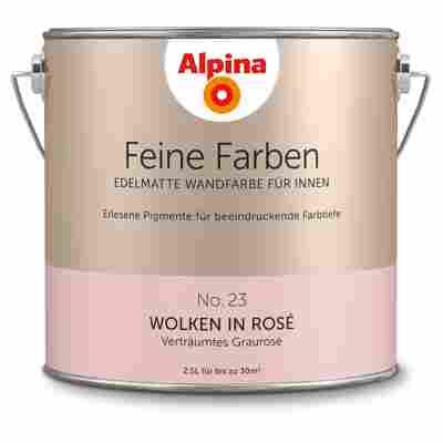 Wandfarbe 'Feine Farben' No. 23 'Wolken in Rosé', graurosé, 2,5 l