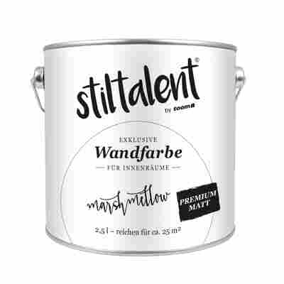 Stiltalent Wandfarbe 'Marshmellow' Premium Matt 2,5 l