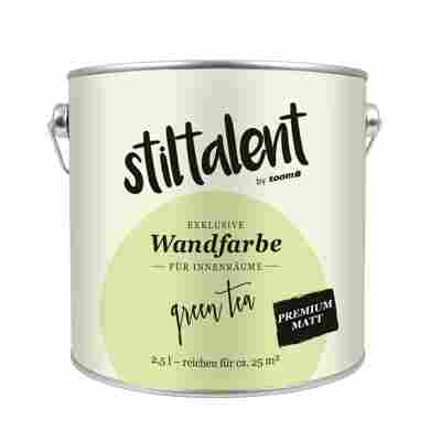 Stiltalent Wandfarbe 'Green Tea' Premium Matt 2,5 l