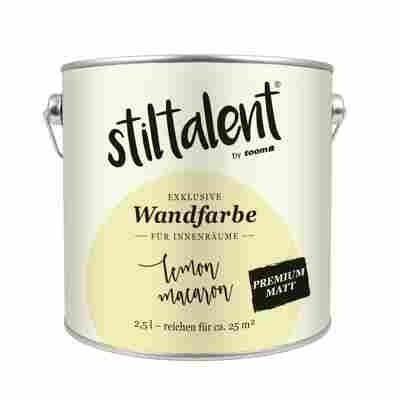 Stiltalent Wandfarbe 'Lemon Macaron' Premium Matt 2,5 l