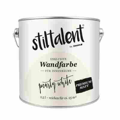 Wandfarbe 'Pearly White' Premium Matt 2,5 l