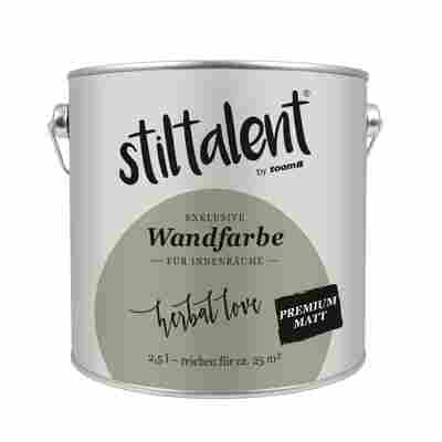Stiltalent Wandfarbe 'Herbal Love' Premium Matt 2,5 l