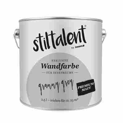 Stiltalent Wandfarbe 'Granny Grey' Premium Matt 2,5 l