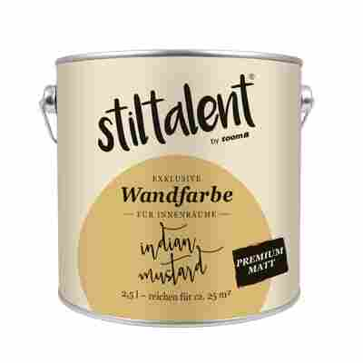 Stiltalent Wandfarbe 'Indian Mustard' Premium Matt 2,5 l