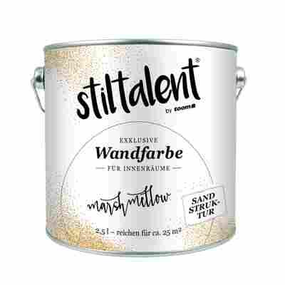Wandfarbe 'Marshmellow' Sandstruktur 2,5 l
