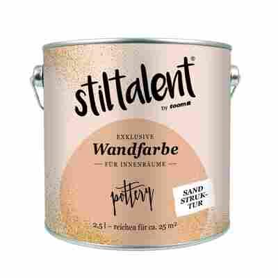 Stiltalent Wandfarbe 'Pottery' Sandstruktur 2,5 l
