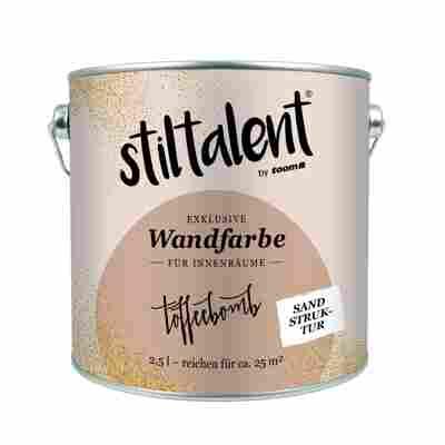 Stiltalent Wandfarbe 'Toffeebomb' Sandstruktur 2,5 l