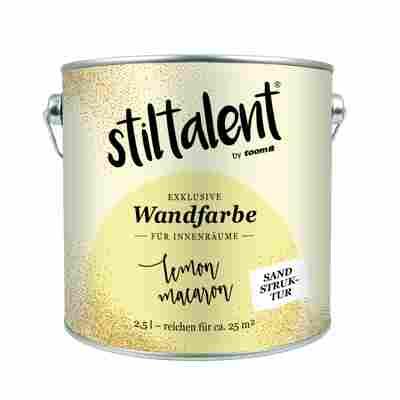 Wandfarbe 'Lemon Macaron' Sandstruktur 2,5 l